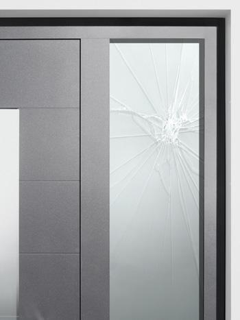 Porte d'entrée aluminium Hörmann - ThermoSafe - ThermoCarbon avec vitrage de sécurité